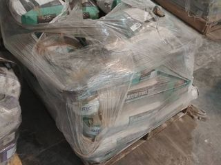 pallet of mud bed mix thick bed mortar  gray