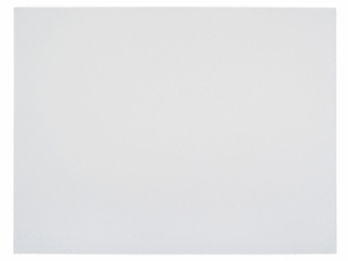 School Smart Railroad Board  22 x 28 Inches  6 Ply Thickness  White  Pack of 25