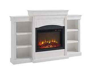 Ameriwood Home lamont Mantel Fireplace  White
