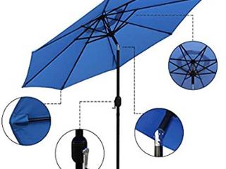 Abble 9 ft Crank   tilt patio umbrella   blue