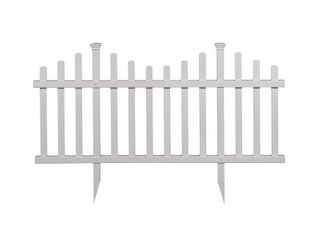 Madison No Dig Vinyl Fence Kit  30in x 56in   2 Pack