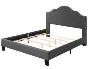 Upholstered 5 0 Queen Headboard footboard  rails