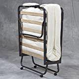linon luxor Folding Rollaway Cot Sized Bed with 4 5  Mattress  Memory Foam  Wood Slats