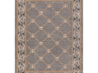Well Woven Timeless Fleur De lis Transitional lattice Trellis Grey 5 3  x 7 3  Area Rug