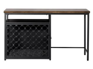 Hillsdale Furniture Pet Crate Desk with Crate Pad  Brown