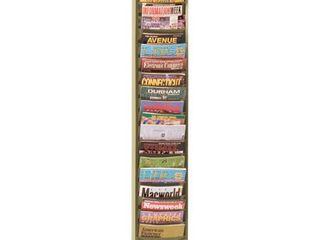 Durham 400 75 Tan Cold Rolled Steel 20 Contour Pocket Vertical literature Rack  9 3 4  Width x 58  Height x 4 1 8  Depth
