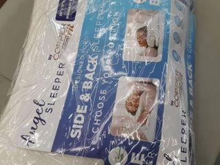 Copper Fit Angel Sleeper Memory Foam Pillow   As Seen On Tv Standard Size