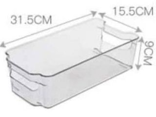 2 Pack Soc homeware Wide  Deep  Clear containers