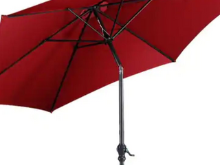 Halsey Outfitters   10 ft   Patio Umbrella Red    no Base