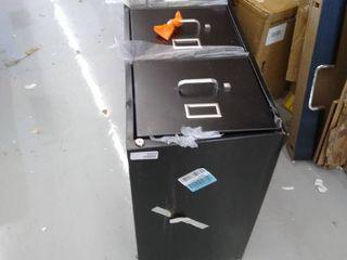 4 drawer file cabinet  black   damaged