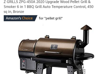 Z Grills Zpg 450a 2020 Upgrade Wood Pellet Grill   Smoker 6 In 1 Bbq Grill Auto    not Inspected