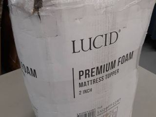 lucid 2 Inch Traditional Foam Mattress Topper   Ventilated