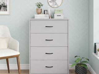 Mainstays Classic 4 Drawer Dresser  Dove Gray Finish