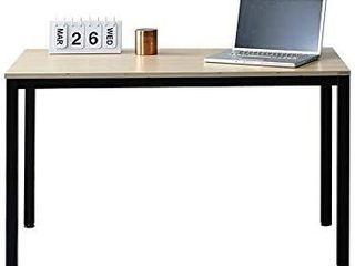 SOFSYS 55 1  Multi Functional Computer Desk Workstation Table  Industrial Home Office Design for Writers  Video Gaming  Designers and Entrepreneurs  large Desktop with Metal Frame  Oak Black DAMAGED