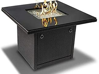 Outland living Series 410 Grey 36 inch Outdoor Propane Gas Fire Pit Table  Black