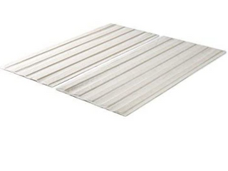 Annemarie Fabric Covered Queen 10 Piece Wood Support Slats