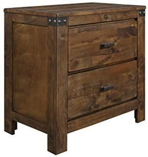 Global Furniture USA NS Victoria Nightstand  Rustic Oak