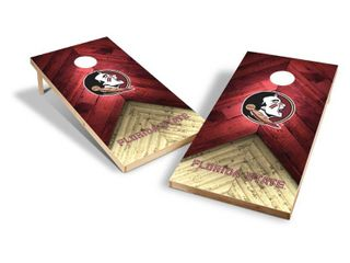 NCAA Florida State Seminoles 2x4ft Tailgate Toss Cornhole Game  damage to one end of inspected area