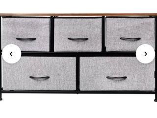 Fabric 5  Drawer Storage Organizer
