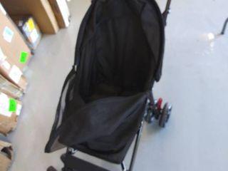 Black pet stroller
