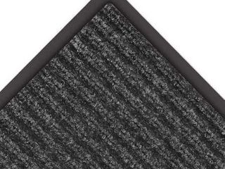 NoTrax 109 Brush Step Entrance Mat  for lobbies and Indoor Entranceways  3  Width x 5  length x 3 8  Thickness  Charcoal