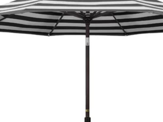 Blissing 9  Striped Patio Umbrella Crank open and Close System