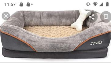 Medium Size Joy elf Dog grey bed   no foam insert