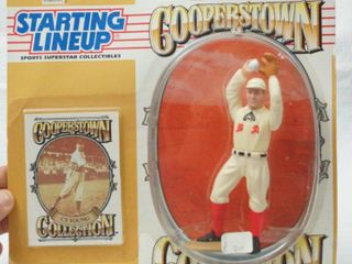Cy Young MlB Baseball Starting lineup   Cooperstown Collection with Card   Hard to Find