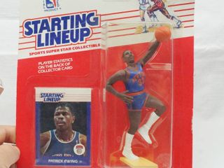 Patrick Ewing   NBA Knicks   Starting lineup with Card