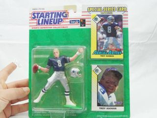 Troy Aikman   Aerial Artist   NFl   Starting lineup with Special Series Card