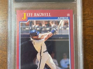 1991 Score Traded   Astros Jeff Bagwell ROOKIE  96T   DCS Graded in Hard Case