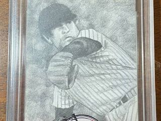 One Of A Kind FAMOUS FABRICS INK   Big Baseball Sketch Card   Goose Gossage   In Hard Case