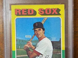 1975 Topps  Red Sox Dwight Evans  255   GMA Graded in Hard Case