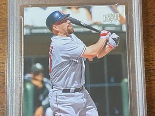 2009 Upper Deck   Red Sox Kevin Youkilis  57   GMA Graded in Hard Case