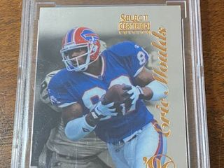 1996 Select Certified   Bills Eric Moulds ROOKIE  102   BCCG Graded in Hard Case