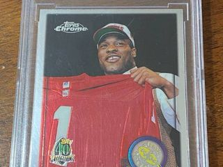 1996 Topps CHROME   Cardinals Simeon Rice  155   BCCG Graded in Hard Case