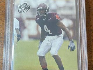 2004 PRESS PASS   VT DeAngelo Hall  41   BGS Graded in Hard Case