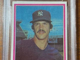 1981 Topps   Yankees Ron Guidry  250   GMA Graded in Hard Case