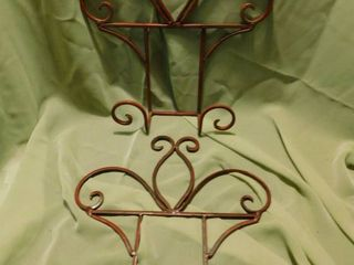 Wrought Iron Display Stands  2 ea