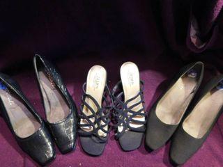 Women s Heels  3 pair  Sz 7 5 lot 1