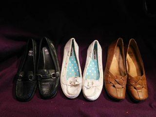 Women s Shoes Sz 7 5  3 pair  lot 7