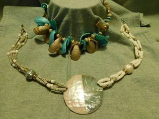 Bead   Shell Necklaces  2 ea