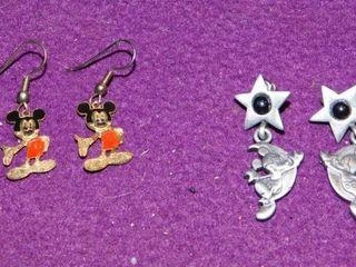 Mickey Mouse Earrings  2 sets