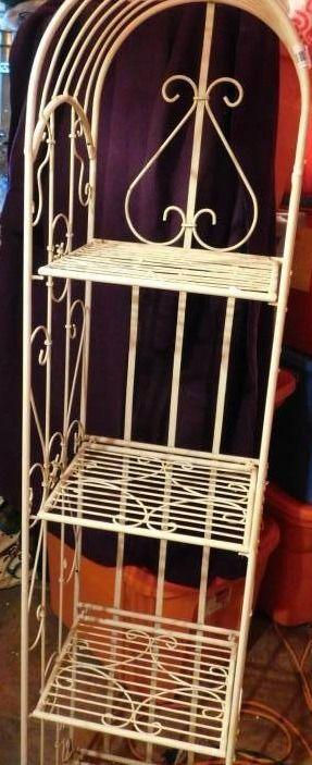 Ornate Metal Shelf  4 shleves