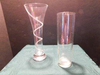 Glass Bud Vases  2 ea