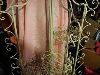 Ornate Metal Folding Plant Stand