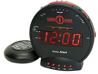 Sonic Bomb Dual Extra loud Alarm Clock with Bed Shaker  Black