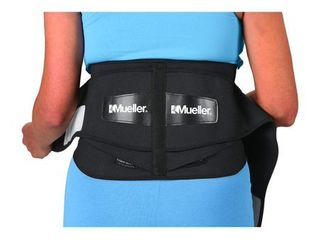 Mueller 255 lumbar Support Back Brace with Removable Pad  Black  Regular Package May Vary