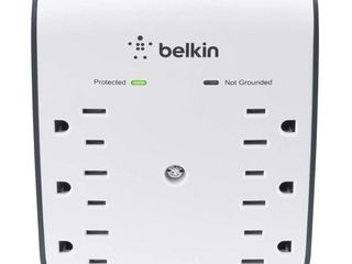 Belkin 6 Outlet USB Surge Protector w  Wall Mount