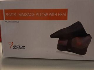 VIKTOR JURGEN Neck Massage Pillow Shiatsu Deep Kneading